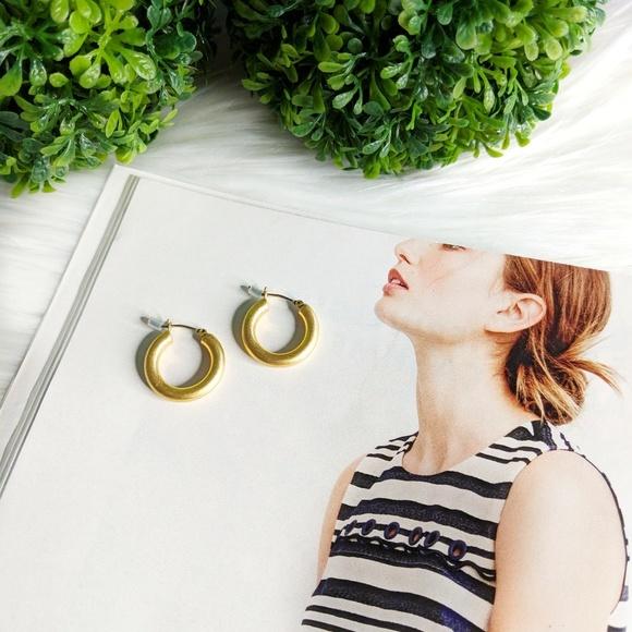 06137e55f3fae2 Madewell Jewelry | Chunky Medium Hoop Earrings | Poshmark